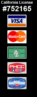 Newton Plumbing accepts Visa, Master Card, American Express